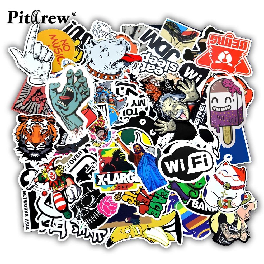Vinyl Cartoon Stickers 50pcs Decals for Laptop Skateboard Luggage Wall Decor DIY