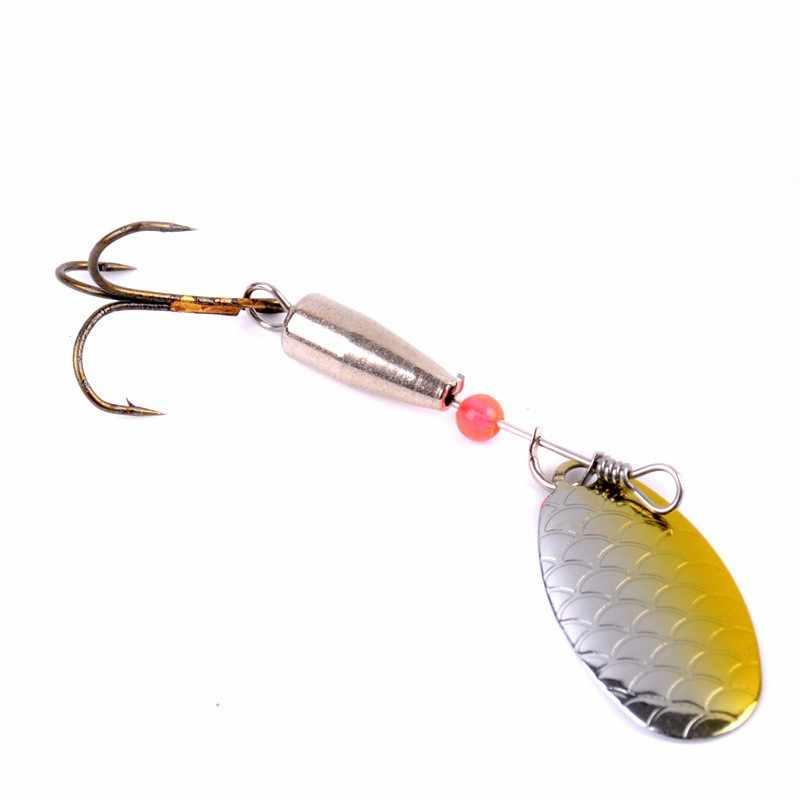 1PC 6Cm 4G Berputar Spinner Trout Sendok Logam Payet Umpan Wobbler Memancing untuk Jig Terbang umpan Pancing Laut Hard Umpan