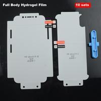 10 juegos de cuerpo completo Nano Protector de pantalla para iPhone 12 pro max mini 11 pro max X Xs X max Xr 8 plus 7 7 frente a hidrogel de película