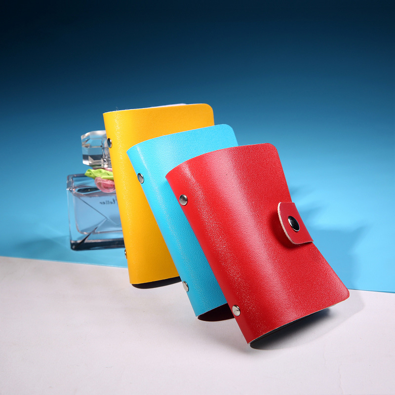 Fashion PU Leather Card Package Women Function Bank Cards Holder Credit ID Card Bags Men Solid Color Travel Mini Clutch Vover