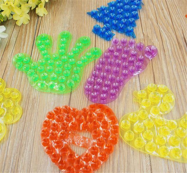 10Pcs Double Magic Plastic Sucker Strong Double Side Suction Palm PVC Suction Cup Bathroom Toys Kid Palm Of Hand