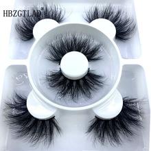Extension Eyelash Mink-Lashes Long-Makeup Beauty Natural 3-Pairs 3d for 18-25mm