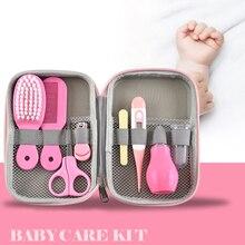 Baby Health Care Kit Newborn Nail Kit Grooming Brush Thermometer Clipper Scissor Multifunction Kids Toiletries Kit Baby Care