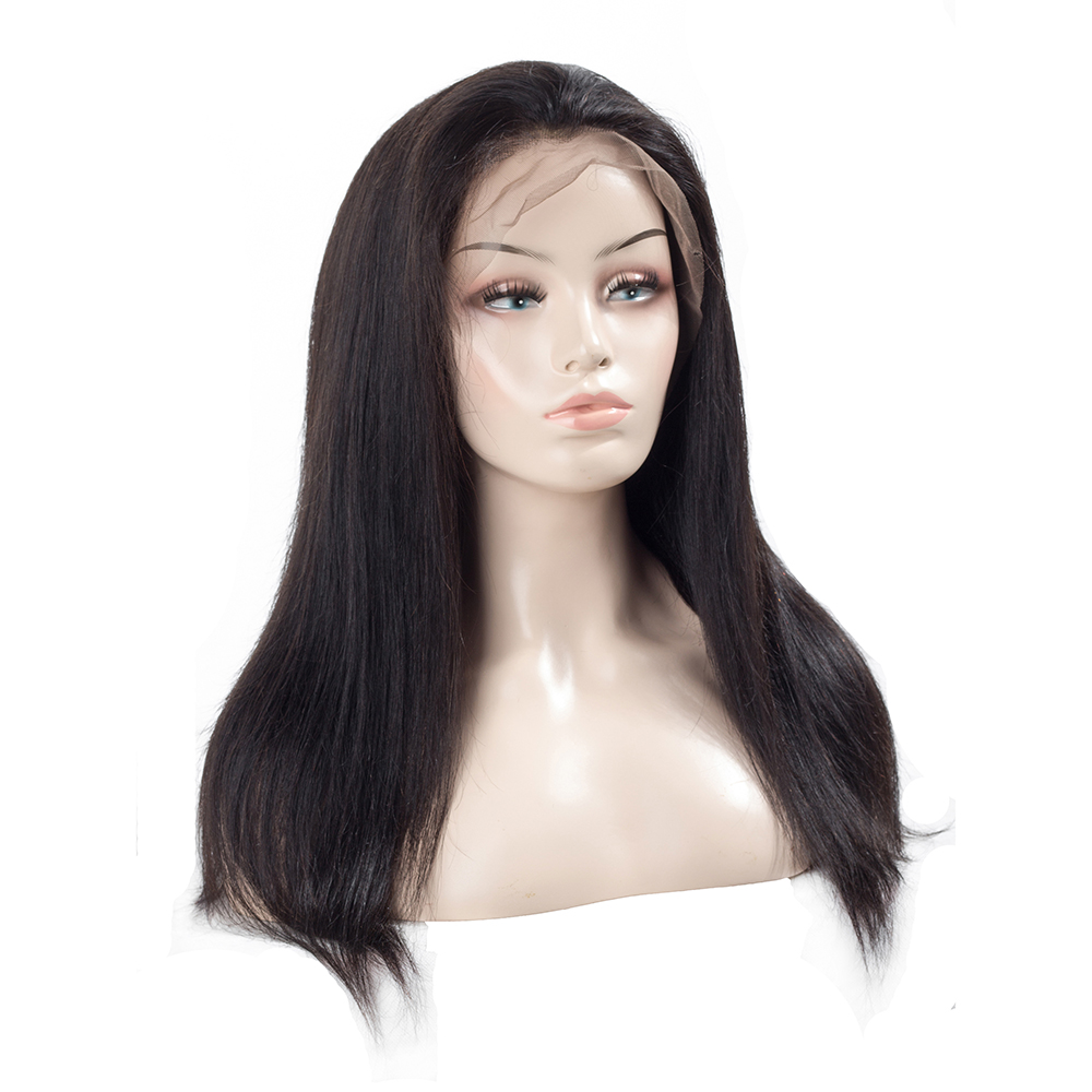 Image 5 - 13x4 Lace Front Human Hair Wigs Pre Plucked Hairline Baby Hair Brazilian Straight Lace Front Wigs Bleached Knots Remy QT Hair-in Human Hair Lace Wigs from Hair Extensions & Wigs