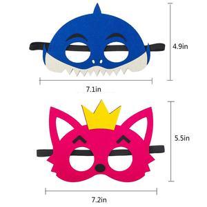 Image 5 - 12 шт., Детские фетровые маски «маленькая Акула»