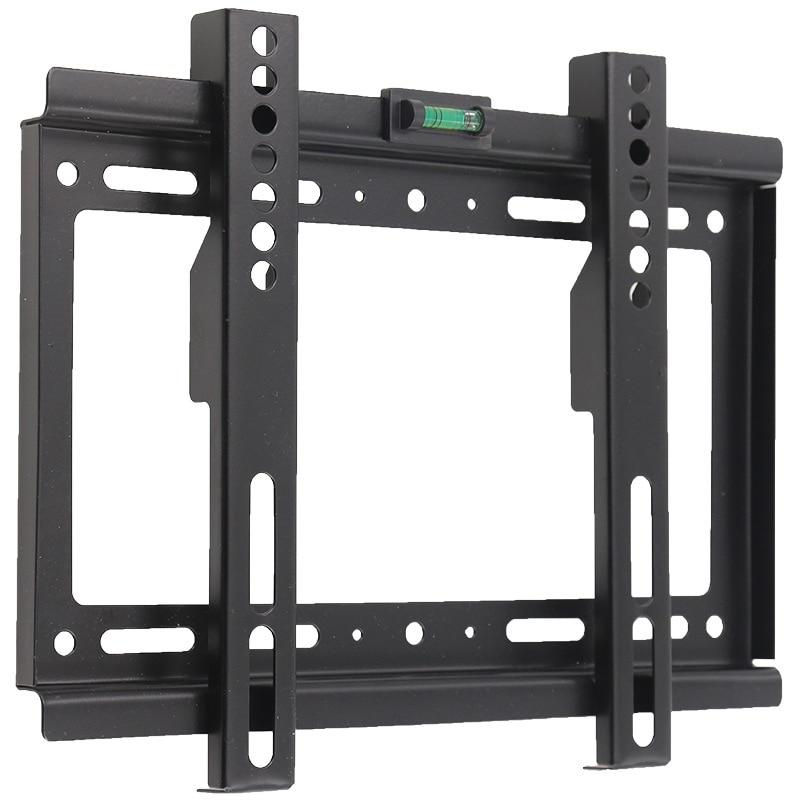 Универсальный ТВ настенный кронштейн фиксированный плоский ТВ Рамка подставка держатель угол наклона для 14-42 дюймов ЖК светодиодный