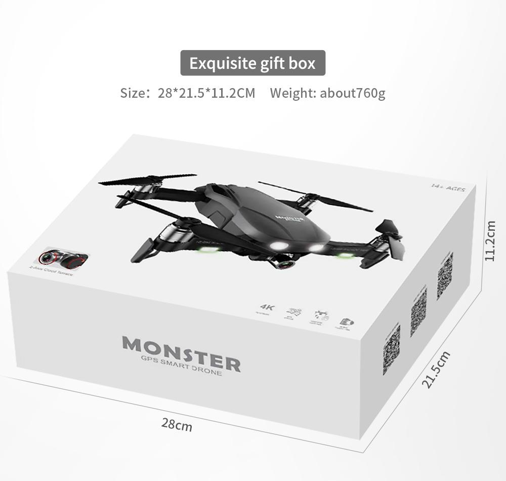 F8 Profissional FPV Vision 4K HD Camera Drone with Two-Axis Anti-Shake and GPS 39