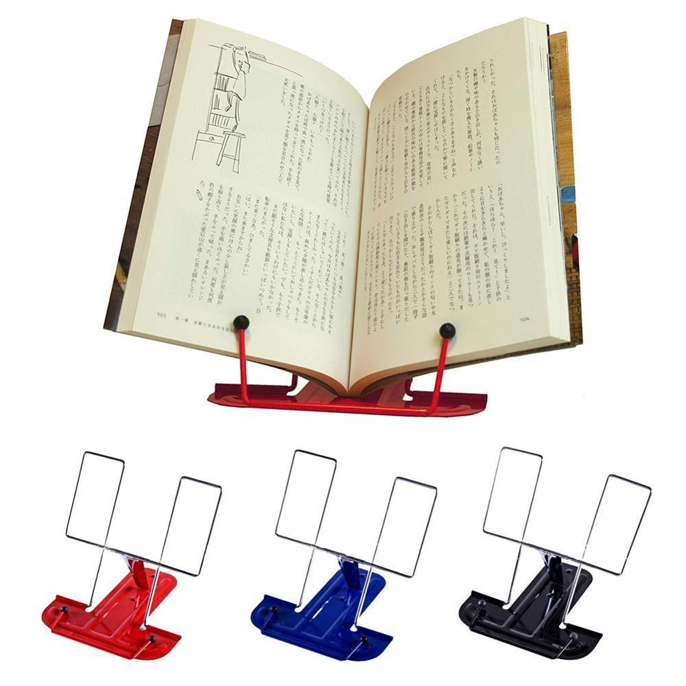 1PC Portable Metal Adjustable Reading Book Holder Support Document Foldable  Shelf Bookstand For Reading Office Supplies