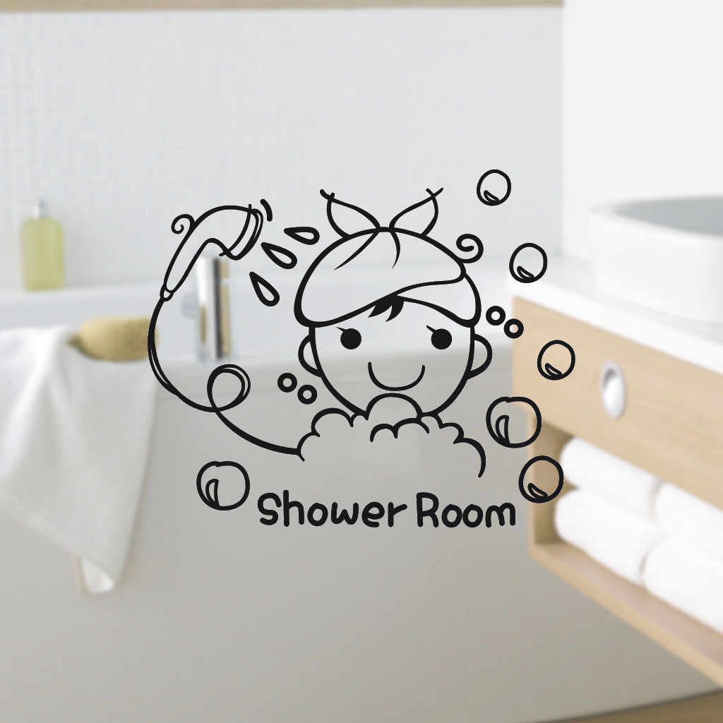 Душевая комната ПВХ детские наклейки на стену гостиная дети Съемная стена этикета стены стикер детские наклейки украшение дома