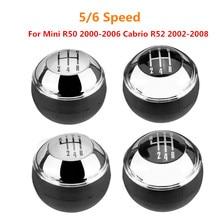 5/6 скоростная ручная фоторучка, ручка рычага, круглая ручка для Mini R50 2000-2006 Cabrio R52 2002-2008 25117542278