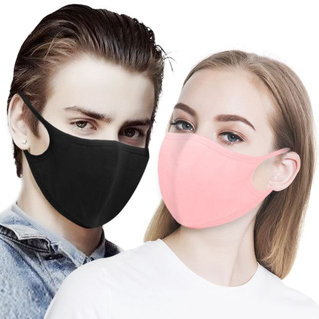 10Pcs Cotton Mouth Mask Anti Dust Pollution Washable Face Masks Reusable windproof effortless breathable 3 layer filter 5