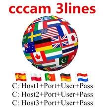 CCCAM 3 lines 1/2year Popular Full HD Satellite Receiver cccam Europe Germany Poland Spain UK Freesat Satellite Receiver