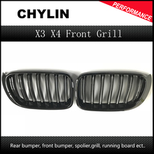 X3 F25 Front Grill X4 F26 ABS Front Kidney Dual Slat Mesh Grille for BMW 2014 + X Series