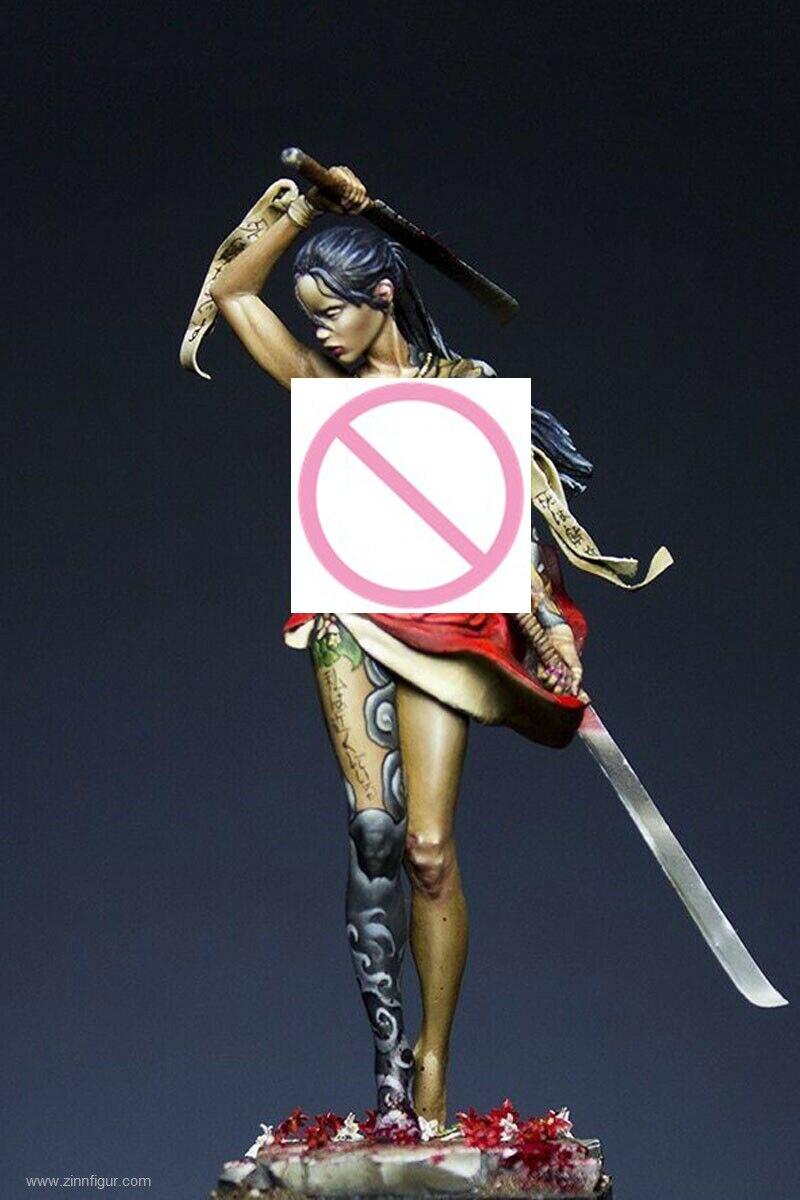 1/24 75MM Beautifull Warrior Death 75 Mm     Resin Figure Model Miniature Gk Unassembly Unpainted