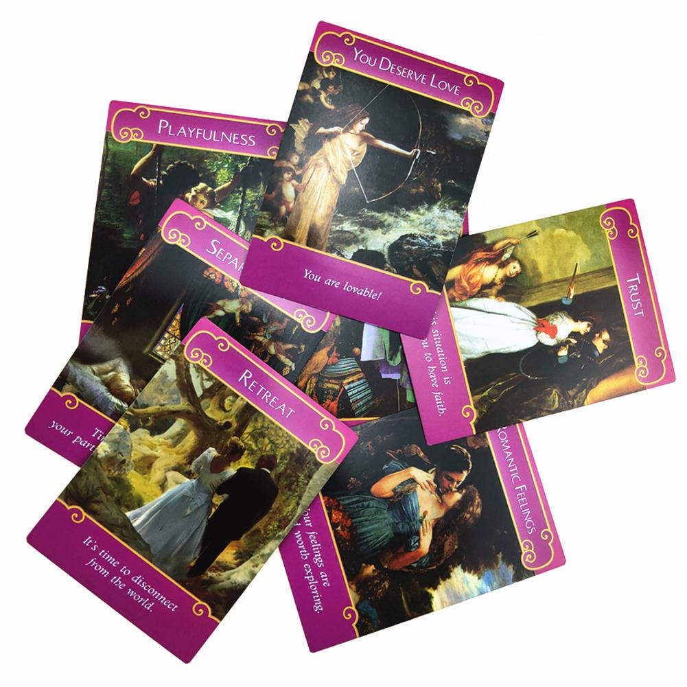 44pcs pack Romance Angel Oracle Cards English Deck Game Boards Mysterious Fate Fortune Tarot Cards Multiplayer Game Cards