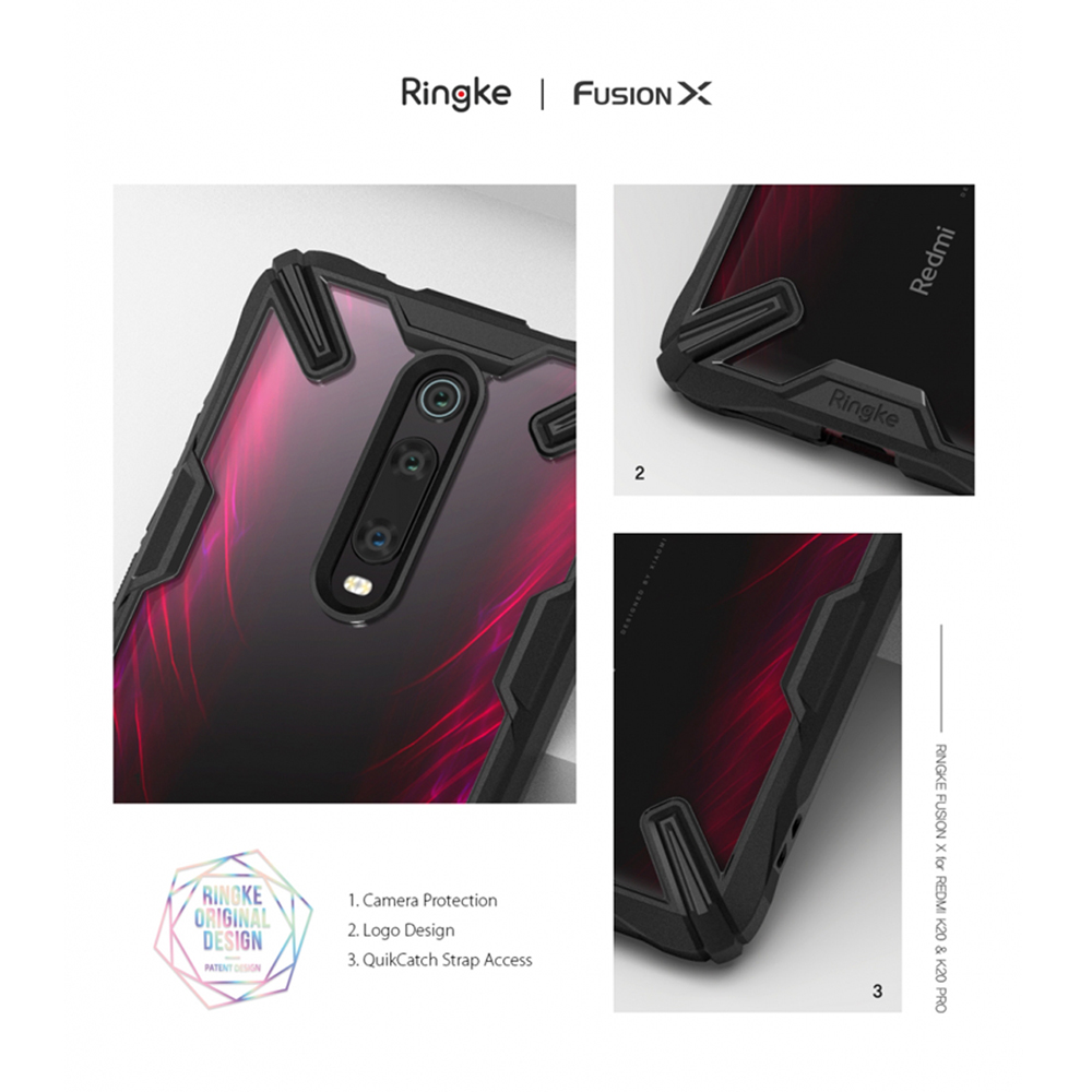 Image 2 - Ringke Fusion X for Xiaomi Mi 9T Case (Mi 9T Pro) Transparent Hard PC Back Soft TPU Frame for Redmi K20  (K20 Pro) Cover-in Fitted Cases from Cellphones & Telecommunications