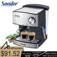 1. 6L cafetera eléctrica exprés cafetera de espuma eléctrica vaporizador de leche aparatos de cocina 220V Sonifer