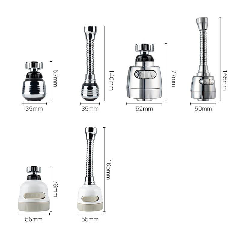 Кухонный кран аэратор режимов 2/3 360 градусов регулируемый водяной фильтр диффузор водосберегающие насадки кран коннектор душ