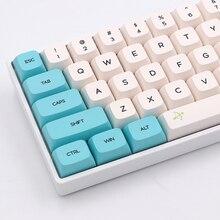 Keypro Chunyang Cyan weiß Ethermal Dye Sublimation schriften PBT keycap Für Wired USB mechanische tastatur 129 tastenkappen