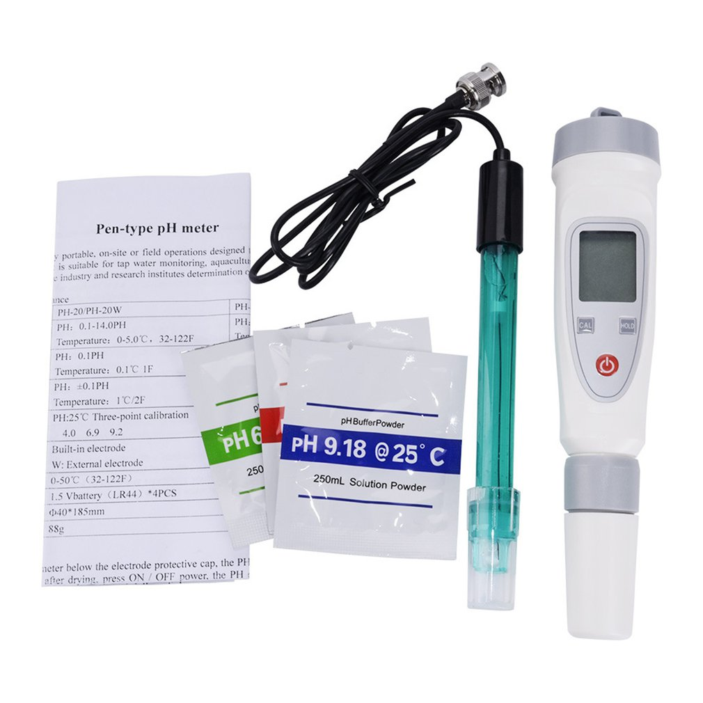 Portable Digital Water Quality Tester Pen PH Meter Water Quality Test Pen PH-20W External Connection Electrode Tester