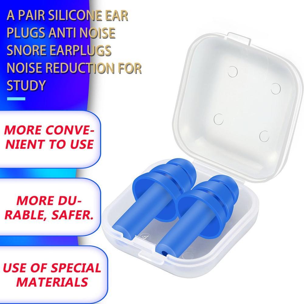 Затычки для ушей для сна, силиконовые, анти-шум, храп, затычки для ушей, шумоподавление для сна, шумоподавление
