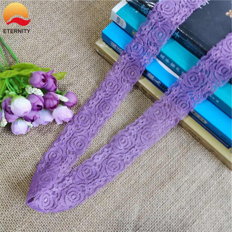 * Modello di fiore di Colore Elastico Morbido Della Maglia Spandex di Nylon african indian net fancy bordo da sposa in pizzo tessuto Per La biancheria intima