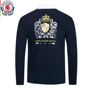Image 2 - Fredd Marshall 2019 Autumn New Long Sleeve Polo Shirt Men Fashion Embroidered Polo Shirt 100% Cotton Casual Print Polos Tops 063