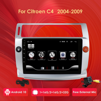 2G+32G Android 10 Car Radio For Citroen C4 C-Triomphe C-Quatre 2004-2009 Car Dvd Player Stereo Car Accessory 4G Multimedia DAB+ image