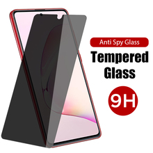 9H Anti Spy Screen Protector Glass For Samsung Galaxy A6 A9 A7 A8 Plus 2018 Privacy Tempered Glass For Samsung S10 S20 Lite FE