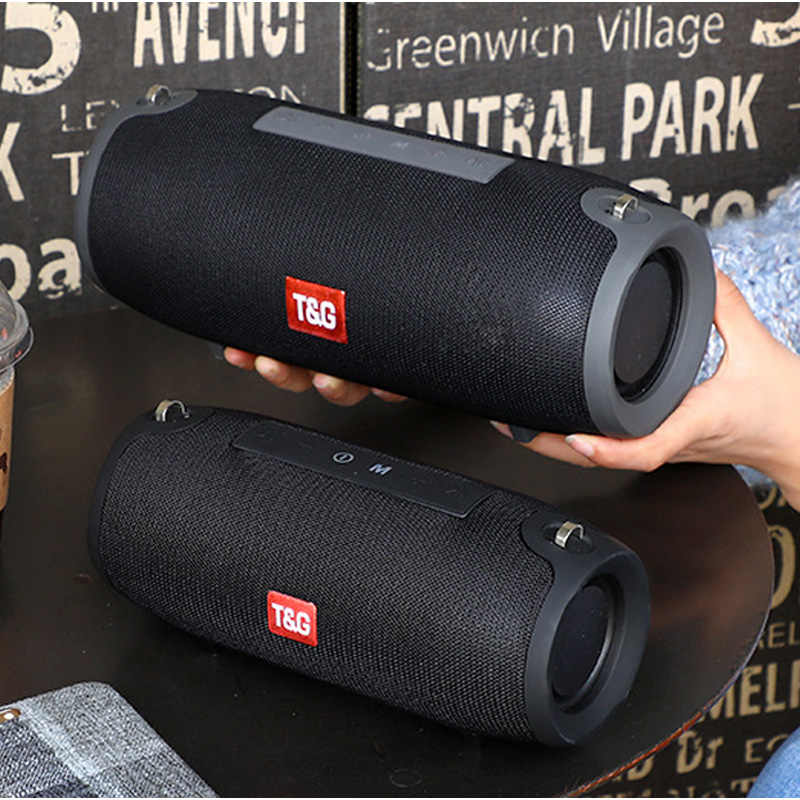 مكبر صوت بخاصية البلوتوث قابل للنقل 40 واط لاسلكي باس العمود مقاوم للماء في الهواء الطلق المتكلم دعم AUX TF USB مضخم صوت ستيريو مكبر الصوت