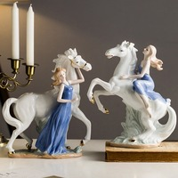 Horse Decoration Crafts Office home Wine Cabinet Decor And Ornaments Living Room Furnishings Horse Opening Lucky Gift Ceramic