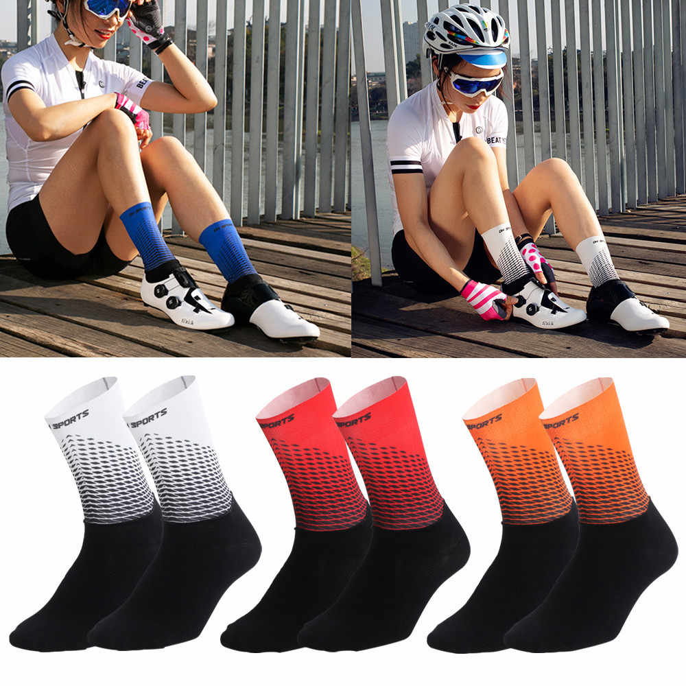 Men Women Cycling Socks Breathable MTB Bike Mountain Racing Riding Cotton Socks