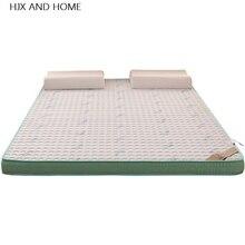 Látex natural y relleno de espuma con memoria de 6cm colchón estereoscópica transpirable cómodo Individual Doble colchón de tamaño