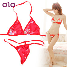 OLO Swimsuit 2 piece/set Women Sex Costumes Three-point Bikini Bare Back Sexy Costume Adult Games Erotic Sexy Erotic Lingerie(China)