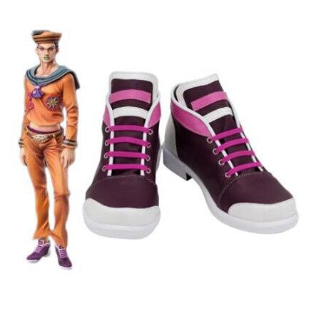 JoJo's Bizarre Adventure Josuke Higashikata Cosplay Boots Shoes Men Shoes Costume Customized Accessories Halloween Party Shoes