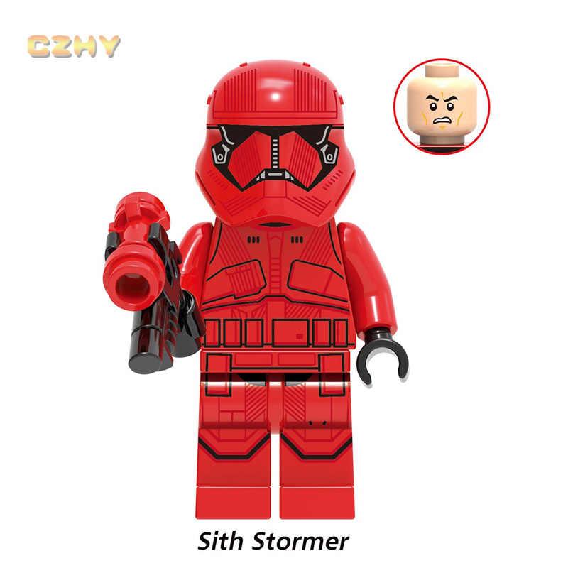 Pria Itu Rhoda POE Dameron Legoed Minifigured Sith Stormer Kare Dunn Raider Kerajaan Mekanik Robot Blok Bangunan Mainan Anak G0002