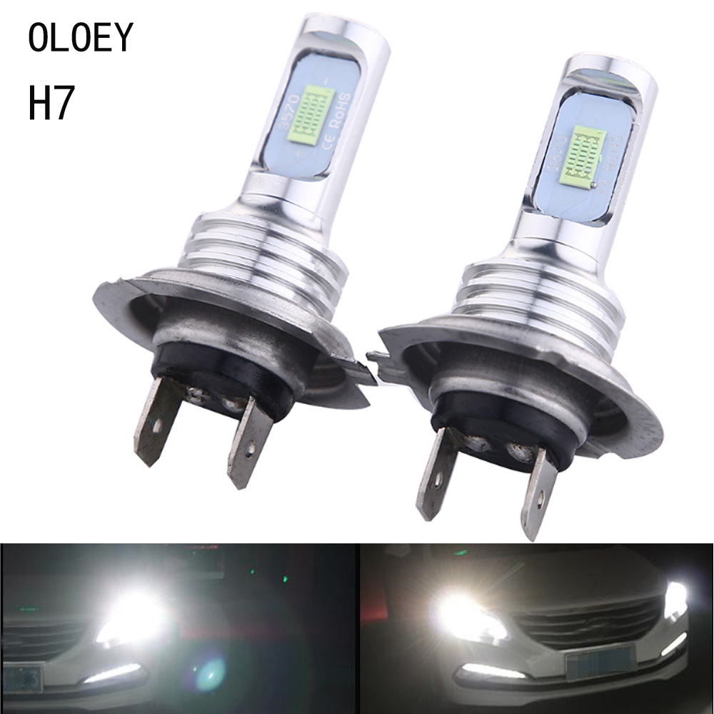 Car H7 <font><b>LED</b></font> Lamp H4 <font><b>H3</b></font> H1 H11 <font><b>LED</b></font> Front <font><b>Bulb</b></font> 9005 880 881 Ice lamp <font><b>6000K</b></font> 12V Car Headlights Car Fog Light Kit 2PCS image