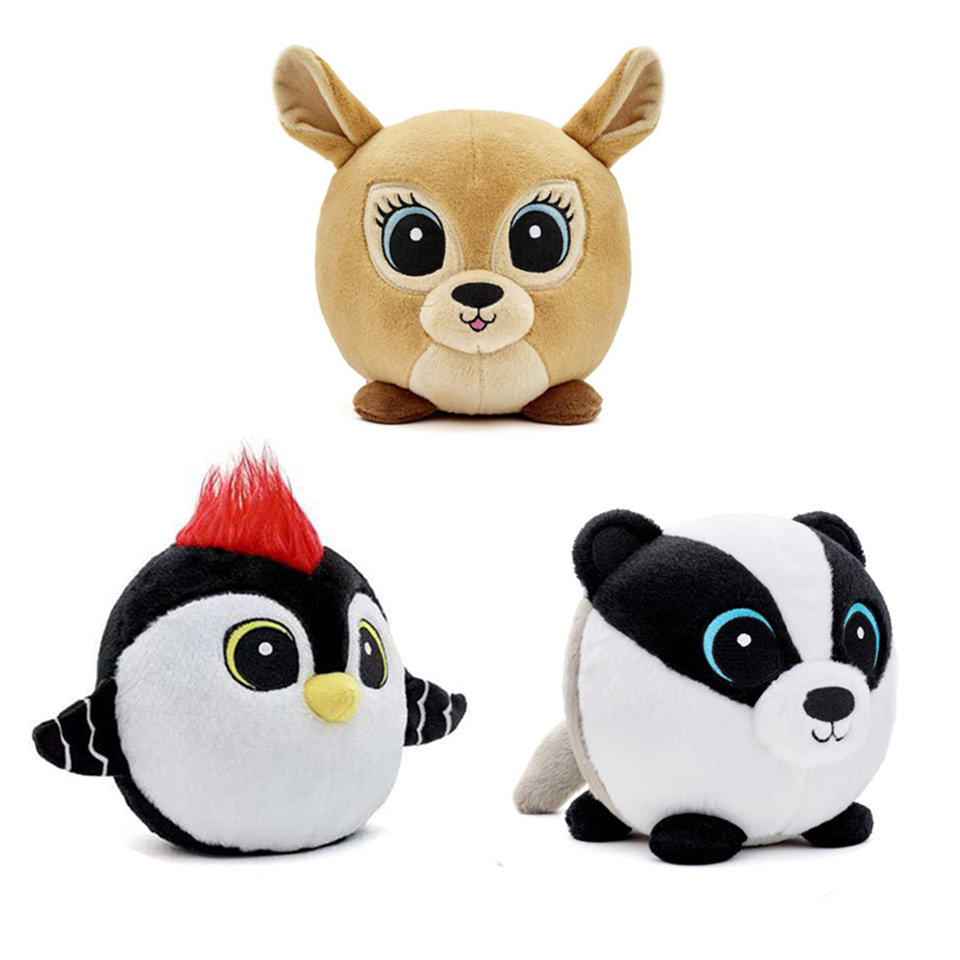 Toys Stuffed Plush Fox Christmas-Gift Forest-Animal Scabies Woodpecker Sweetie-Gang Badger