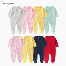 Orangemom Official Store 2020 New Baby Romper Spring Newborn Baby Boys & Girls Clothes Solid Color Long Sleeve Casual Jumpsuit