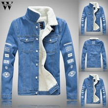 Womail Jacket Men New Plus velvet Thicken Autumn Winter fashion Retro Denim jacket Casual Top outdoor jackets coats 2019(China)