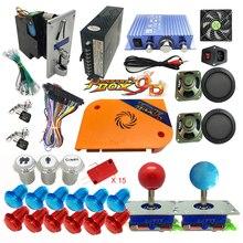 2222 en 1 DIY Kit Pandora caja juego de mesa Joystick arnés aceptador de monedas para Bartop Retro Arcade juego gabinete máquina 3P 4P