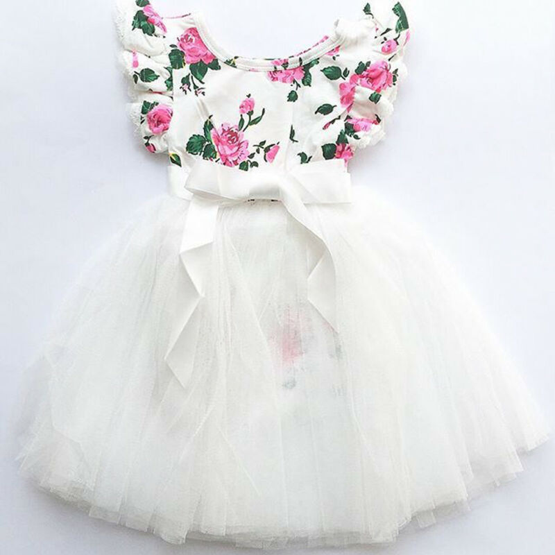 Imcute Dresses Infant Ball-Gown Embroidery Baby-Girls Princess Lace Children Causal Full-Sleeve title=