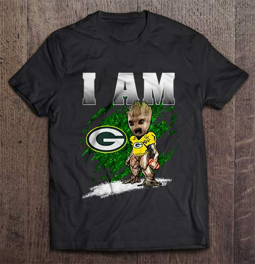 I Am Green Bay Packer Groot Tshirts