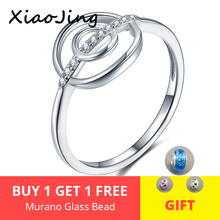 2019 Hot Sale Real 925 Sterling Silver Lucky Circle With Clear CZ Finger Rings For Women Fashion Jewelry Gift free shipping цена