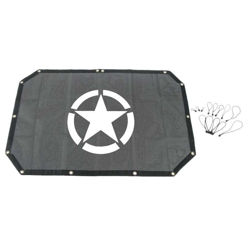 Jeep Wrangler2 Door Version For Wrangler Roof Insulation Mesh Shade Net Parts Provide Uv Protection Cover With Five-Star Mark