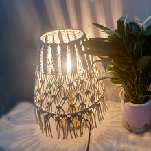 Nordic style hand woven table lamp decorative lamp bedroom bed lamp Bohemia style lamp