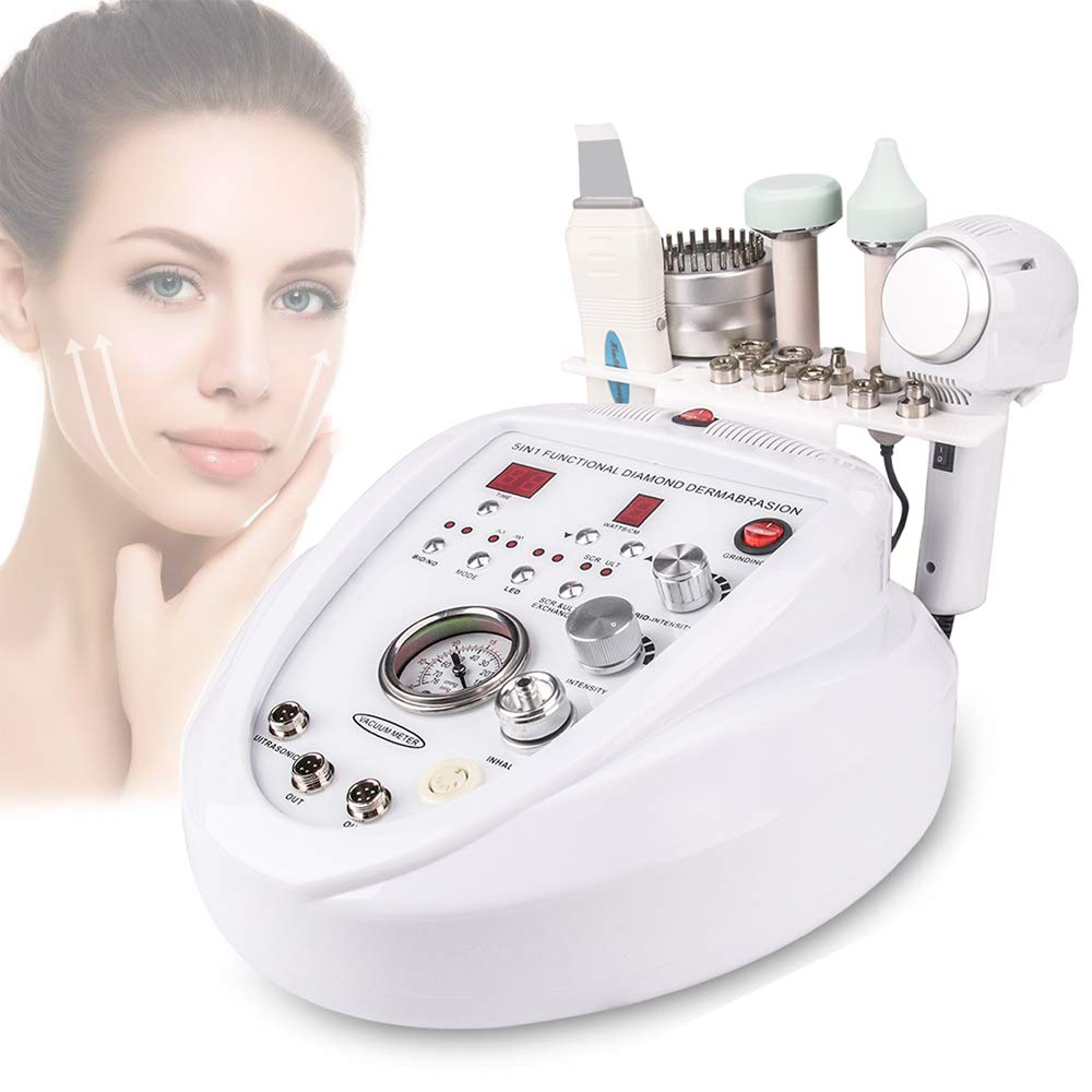 5 In 1 Diamond Microdermabrasion Machine Dermabrasion Anti Aging Wrinkle Skincare Blackhead Remover Exfoliator For Salon Use