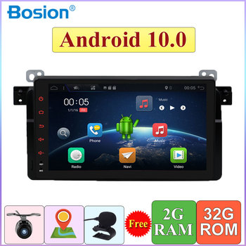 1 Din Autoradio For E46 1998-2006 Android 10.0 Car Audio Radio Player GPS Navigation RDS AUX Bluetooth Steering Wheel Control image