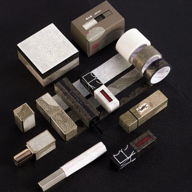 3pcs Summer Palace Paper Washi Tape Set Original Chinese Luxury Style Adhesive Masking Tapes for Lipstick Diary Sticker DIY 6330 5