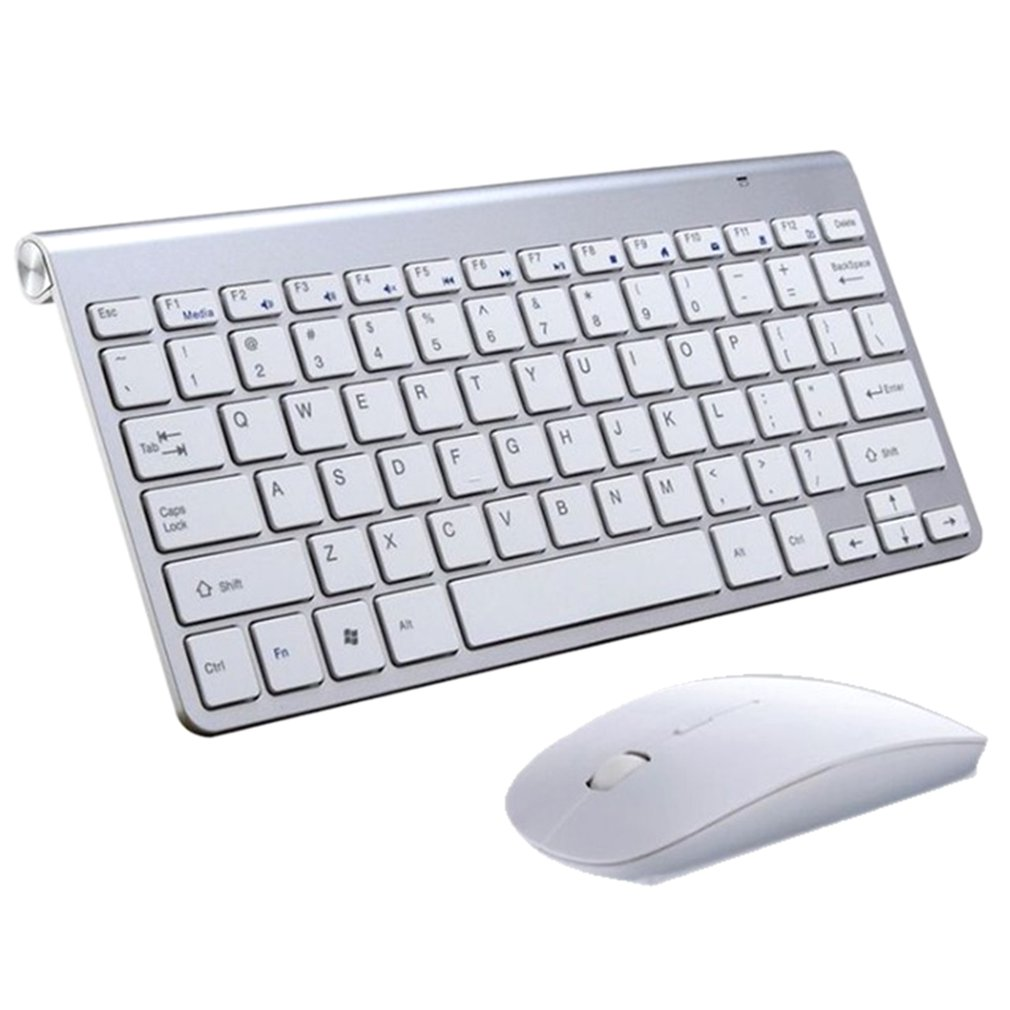 2.4G Wireless Keyboard and Mouse Mini Multimedia Keyboard Mouse Combo Set For Notebook Laptop Mac Desktop PC TV